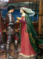 Tristan and Isolde with the Potion by William Waterhouse (1916)