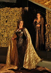 Ellie Dehn with Elizabeth Batton in William Walton's Troilus and Cressida.  Courtesy Opera Theatre of Saint Louis.  Copyright 2008 Ken Howard.