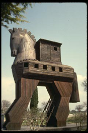 Replica Trojan Horse at the site of Troy