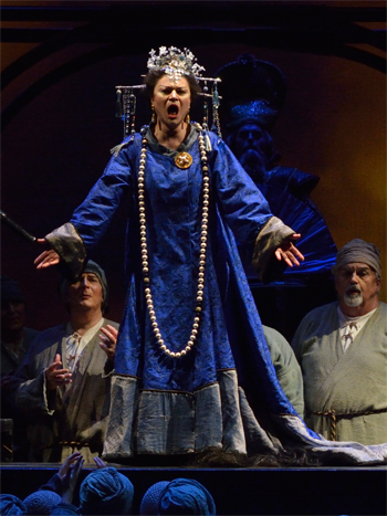 A scene from Turandot [Photo by R. Tinker]