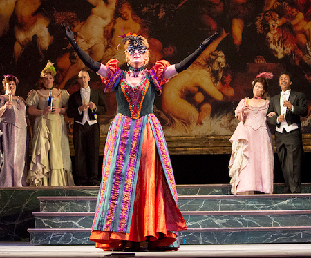 Jennifer Goode Cooper as Rosalinde, pictured here as the Russian Countess [Photo by Doug Wonders]