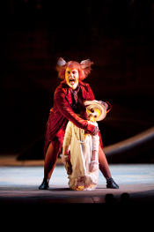 Emma Matthews as Vixen Sharp-Ears and Marnie Carr as Hare [Photo by Johan Persson courtesy of The Royal Opera House]