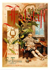 Poster of Verdi's Falstaff