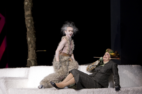 Dominique Visse as Satirino & Guy De Mey as Linfea [Photo © Bill Cooper]