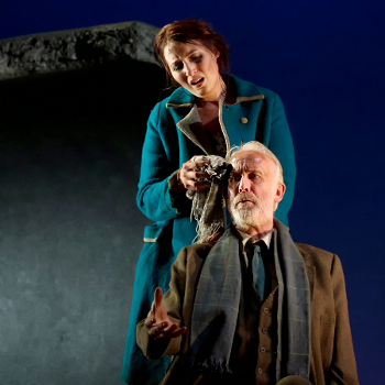 Paula Sides as Eleonora and Craig Smith as Eustachio in The Siege of Calais [Photo by Bill Knight]