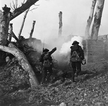 A World War I battle scene [Source: US Army]