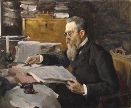 Nicolai Rimsky-Korsakov by Valentin Serov, 1898 [Source: Wikipedia]
