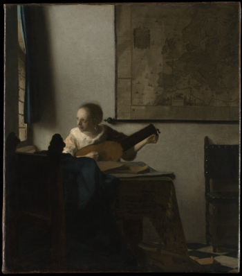 Woman with a Lute by Johannes Vermeer (1632-1675) [Source: The Metropolitan Museum of Art]
