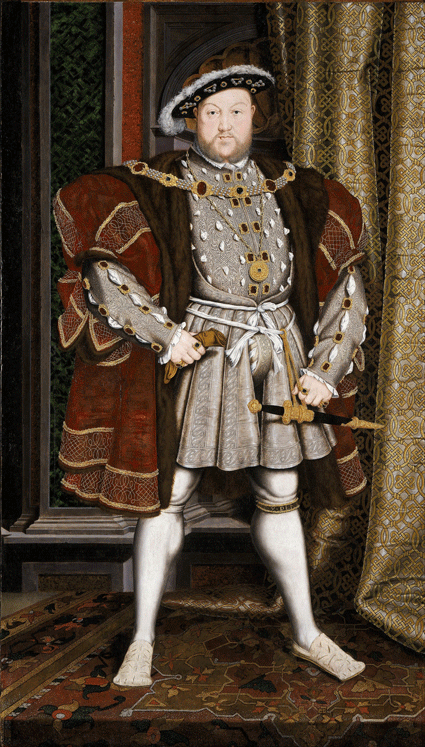 Portrait of Henry VIII after Hans Holbein the Younger, c. 1537-1547 [Source: Wikipedia]