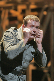 German bass Franz Hawlata sings the title role of Wozzeck in San Diego Opera's production of Wozzeck, directed by Des McAnuff. Photo © Cory Weaver