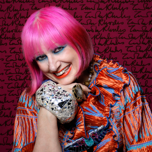 Zandra Rhodes [Photo by Gene Nocon]