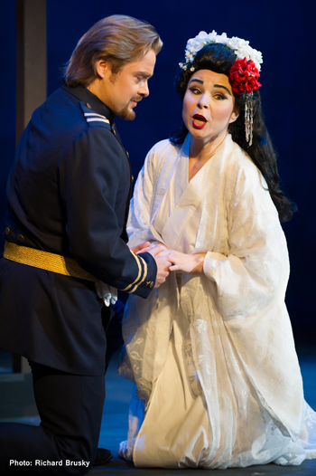 Viktor Antipenko and Inna Los as Pinkerton and Butterfly [Photo by Richard Brusky]