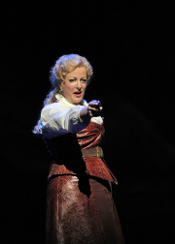 Deborah Voigt as Minnie [Photo by Cory Weaver courtesy of San Francisco Opera]