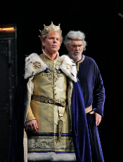 Roger Honeywell (Segismundo) & John Cheek (King Basilio) [Photo by Ken Howard courtesy of Santa Fe Opera]