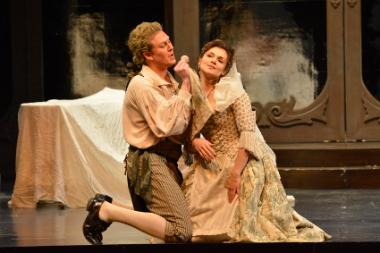 Andriana Chuchman as Susanna and Gordon Bintner as Figaro [Photo by R. Tinker]