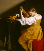 The Lute Player by Orazio Gentileschi (c. 1612/1620) [National Gallery of Art]