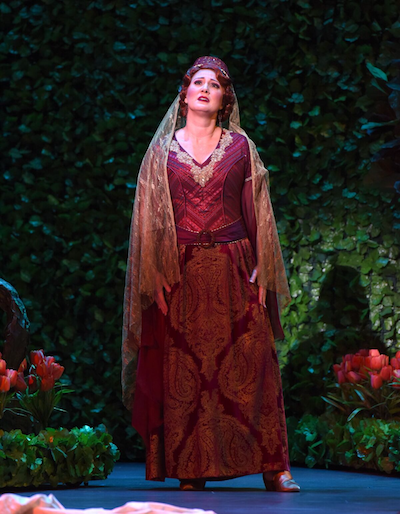 Rebecca Davis as Konstanze [Photo by Pat Kirk]