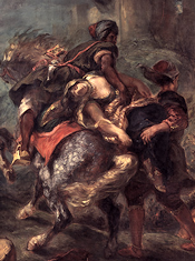 The Abduction of Rebecca (1846) by Eugène Delacroix (Metropolitan Museum of Art, New York)