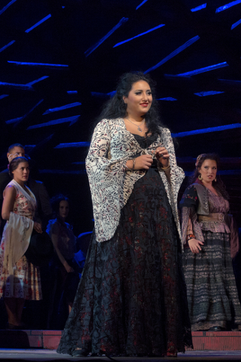 Anita Rachvelishvili as Carmen [Photo by Ken Howard/Metropolitan Opera]