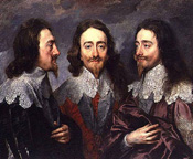 Charles I in three positions - multiple portrait by Sir Anthony Van Dyck (1599-1641)