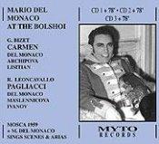 Mario Del Monaco at the Bolshoi