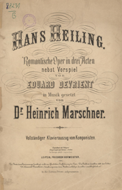 Hans Heiling Cover Page