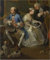 Detail from Marriage A-la-Mode: 1. The Marriage Settlement by William Hogarth (1697 - 1764), c. 1743