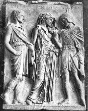 Orphée et Eurydice from Relief d'Hermès (Musée du Louvre)