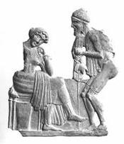 Ulysse et Pénélope -- Circa 450 BCE -- Musée du Louvre
