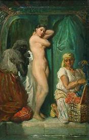 Un bain au sérail by Théodore Chassériau (1849)