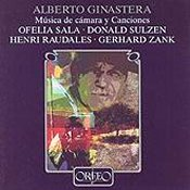 Alberto Ginastera: Musica de camera y Canciones