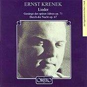 Ernst Krenek: Lieder