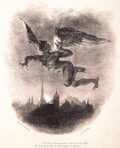 Méphistophélès dans les airs by Eugène Delacroix, 1828