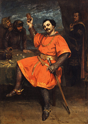Louis Gueymard (1822–1880) as Robert le Diable, 1857 by Jean-Désiré-Gustave Courbet (1819–1877)