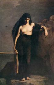 Sappho by Charles-August Mengin (1853-1933)