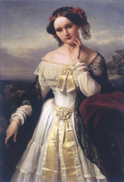 Mathilde Wesendonck portrayed by K.F. Sohn, 1850