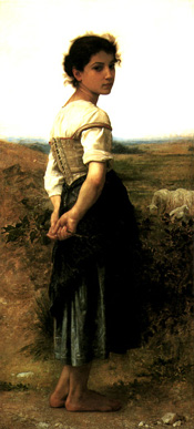 Adolphe-William Bouguereau: The Young Shepherdess, 1895