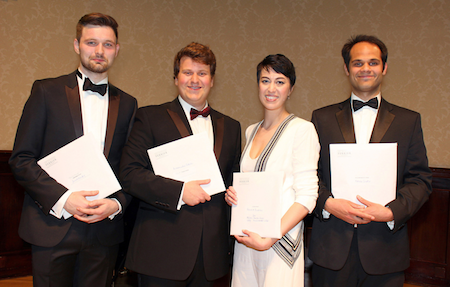 From left to right: James Newby, Alessandro Fisher, Bianca Andrew and Ashok Gupta [Photo by Robert Piwko]