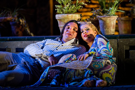 Adam Plachetka as Figaro and Laura Tatulescu as Susanna [Photo by Robert Workman courtesy of Glyndebourne Festival]