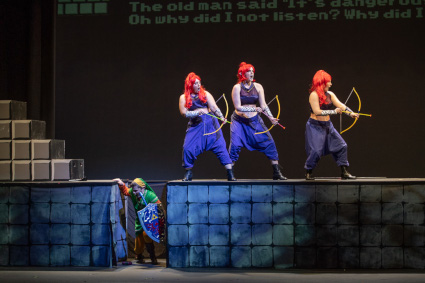Scene from The Magic Flute [Photo by Martha Benedict]