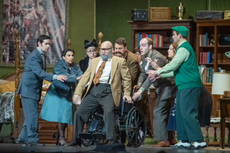 Scene from <em>Gianni Schicchi</em> [Photo by Martha Benedict]