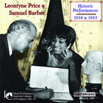 Leontyne Price & Samuel Barber: Historic Performances (1938 & 1953)