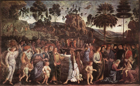 Moses' Journey into Egypt by Pietro Perugino (c. 1482) [Source: Wikiart]