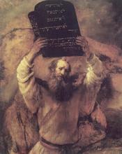 Moses by Rembrandt Harmensz. van Rijn (1659)