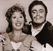 Beverly Sills as Elvira & Luciano Pavarotti as Arturo, in Bellini's