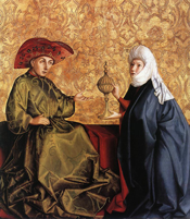 King Solomon and the Queen of Sheba by Konrad Witz, c. 1435