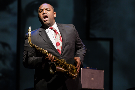 "Lawrence Brownlee as Charlie Parker sings ""My Horn"" [Photo by Dominic M. Mercier]"
