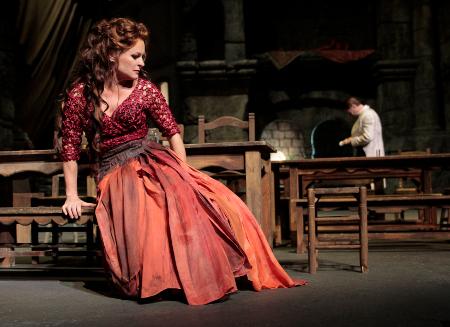 Patricia Bardon (Carmen) in Act Two of