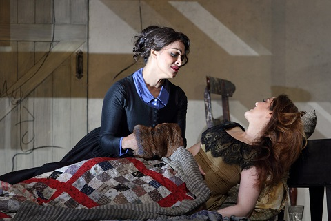 Danielle de Niese as Musetta and Maria Agresta as Mimì Catherine Ashmore.jpg